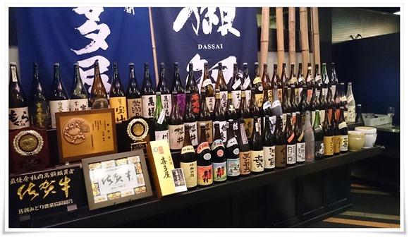焼酎ボトルの数々@焼肉の龍園(りゅうえん)