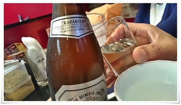 瓶ビールで乾杯@立ち呑み処だるま