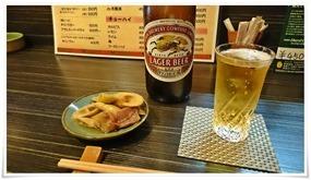 瓶ビールで乾杯@大起(だいき)