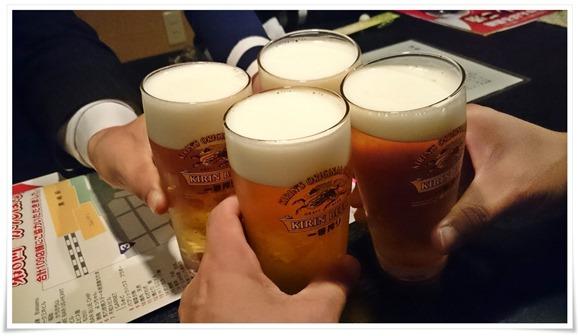 生ビールで乾杯@魚料理 福助