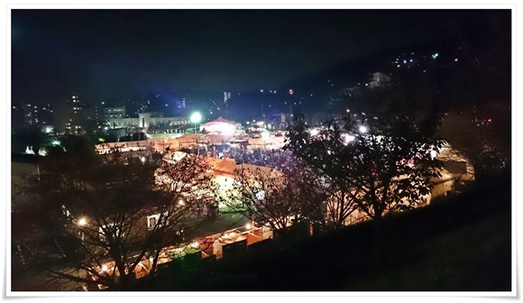 初日の夜景@まつり起業祭八幡2015
