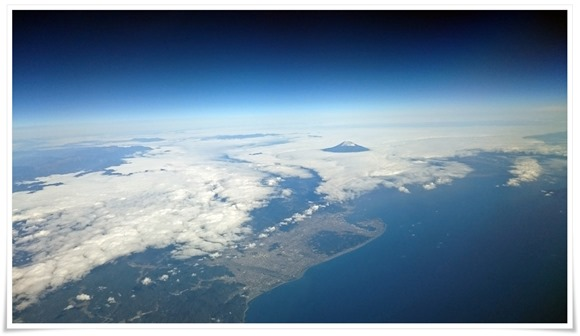 スターフライヤーから富士山を拝む