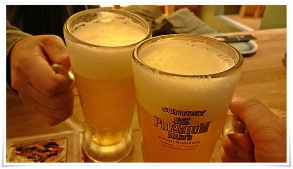 ビールで乾杯@九州うまいもん酒場 スス