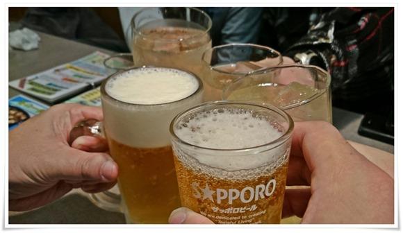 まずは乾杯@広島風お好み焼き安芸