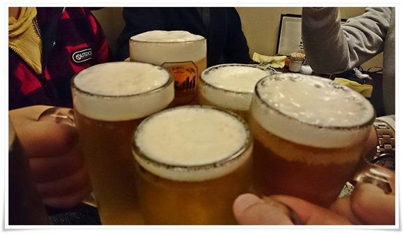 生ビールで乾杯!@HIGOYA(ひごや)