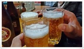 ビールで乾杯@立ち飲み処おふくろ
