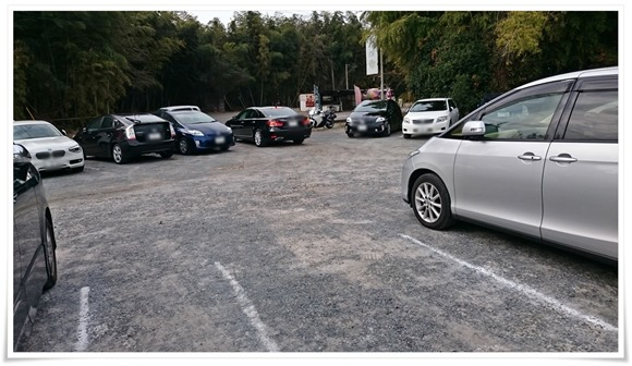 店舗前の駐車場@ちゃんぽんの松露