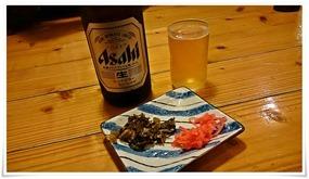 瓶ビールで乾杯@らぁめん鉄兵 宮若店