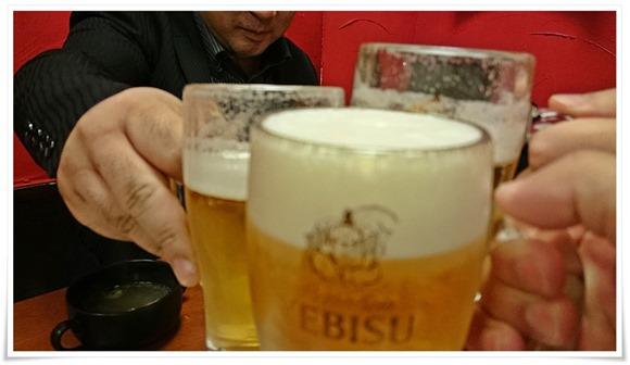 生ビールで乾杯@くし処 とり健(とりけん)