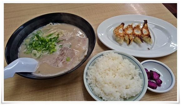 ラーメン+Aセット@長浜ナンバーワン長浜店