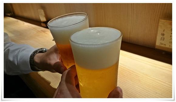 生ビールで乾杯@ぼっか