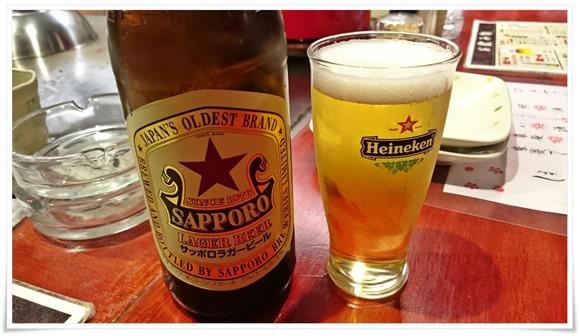 赤星で乾杯!@鉄板焼鶏 いしちゃん