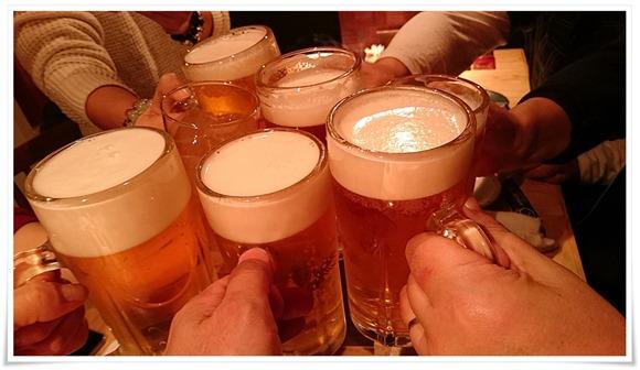 生ビールで乾杯!@うどん居酒屋 満月