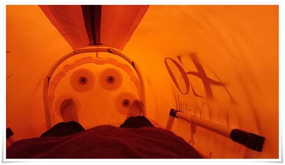 角打ち前の酸素カプセル