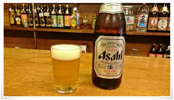 瓶ビールで乾杯@井形酒店