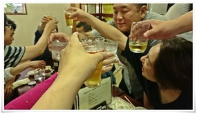 大きく乾杯@餃子の味味(みみ)