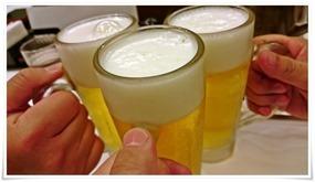 生ビールで乾杯@吉野家小倉京町店