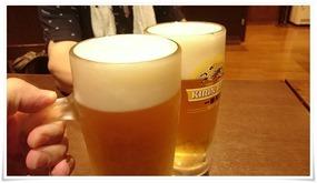 生ビールで乾杯@ひょうたん温泉