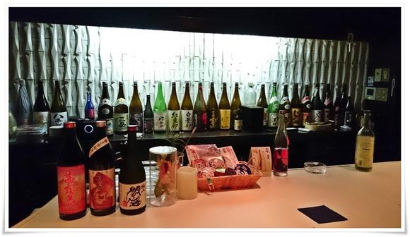 一升瓶の数々@SAKE 焼酎 BAR Salon
