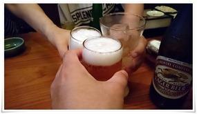 ビールで乾杯@旅館やまの湯