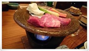 牛カルビの陶板焼き@旅館やまの湯