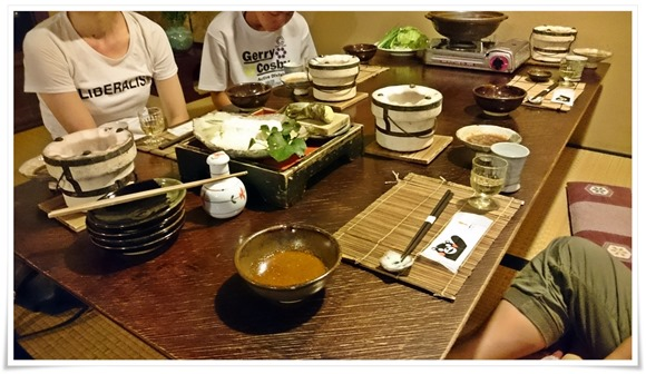 夕食スタート@やまと旅館