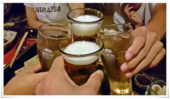 ビールで乾杯@やまと旅館