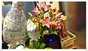 お祝いのお花@やきとり晴(はる)