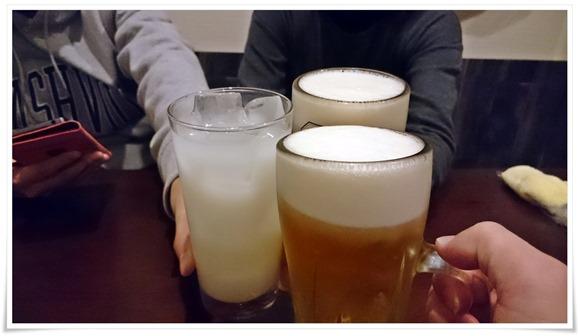 生ビールで乾杯@やきとり晴(はる)