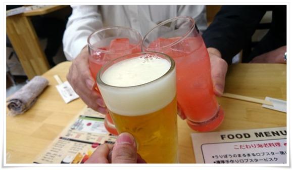 香りエールで乾杯@えび好き一品酒場 うりぼう