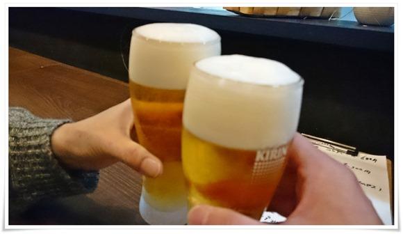 生ビールで乾杯@バンブーキッチン