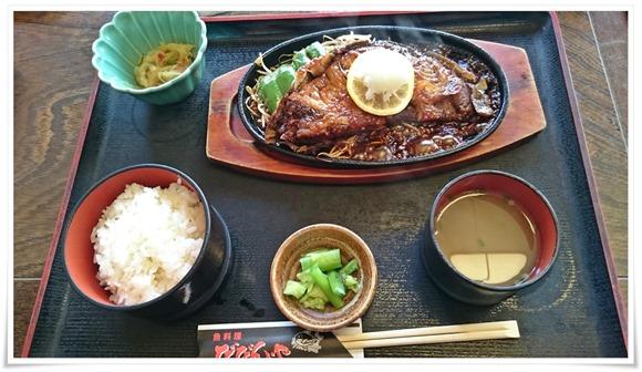 まぐろステーキ鉄板焼き定食@魚料理 びびんや