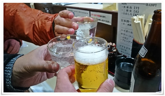 まずは乾杯@八朔(はっさく)