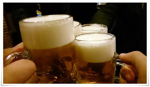 生ビールで乾杯@焼鳥 梵久楽