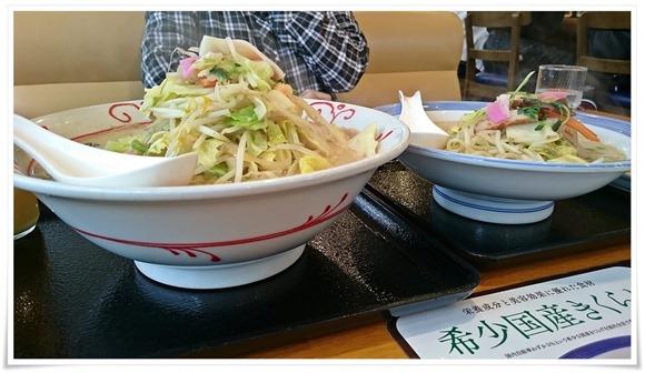 野菜たっぷりちゃんぽん+めん増量アップ@リンガーハット