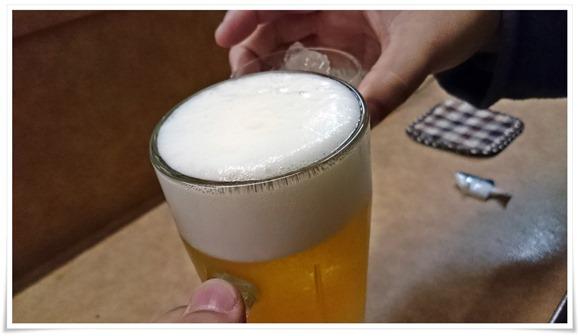 生ビールで乾杯@みどり家・城崎屋台街