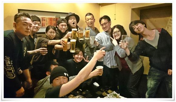 〆の乾杯@居酒屋ぼんばぁ