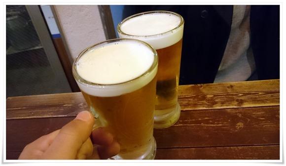 生ビールで乾杯@肉八(にくや)
