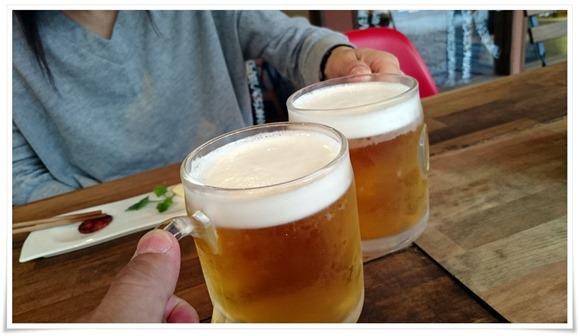 二杯目の生ビール@ココカラキッチン