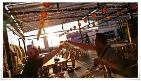 夕焼けに乾杯@屋上ビアガーデン ぶどうの樹