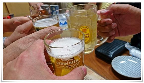 ビールで乾杯@やきとり居酒屋 王将