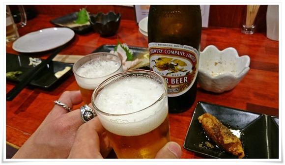 瓶ビールを追加@手羽先唐揚げてばや
