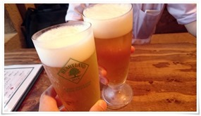 ビールで乾杯@鶏工房 バーンホーフ