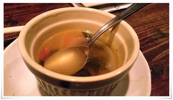 お通しスープ@串あげBARバルサ