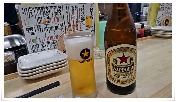 赤星で乾杯@鉄板焼鶏いしちゃん