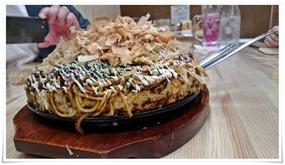デカ盛りお好み焼き@鉄板焼鶏いしちゃん