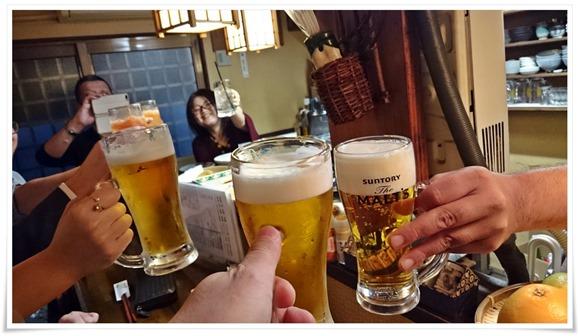 生ビールで乾杯@遊酒食堂 宇都宮