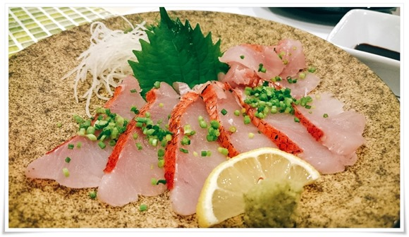 金目鯛の炙り刺し@和洋創作料理 楓(かえで)