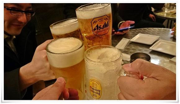 生ビールで乾杯@串揚げたむたむ