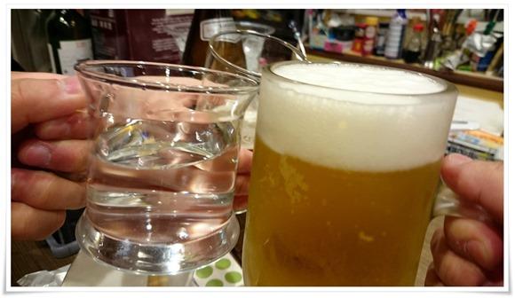 生ビールで乾杯@気まぐれ食堂
